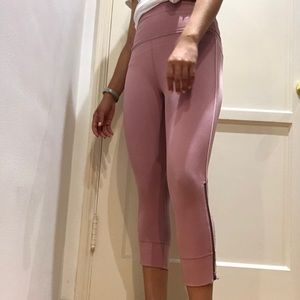 Fabletics High rose crop leggings with mesh